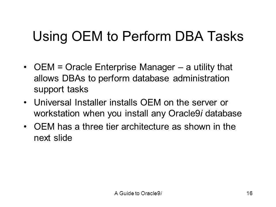 Oracle 9i Database Administrators Guide