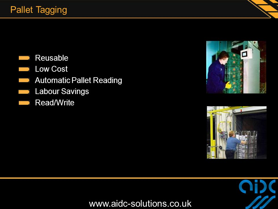 Pallet Tagging Reusable Low Cost Automatic Pallet Reading Labour Savings Read/Write