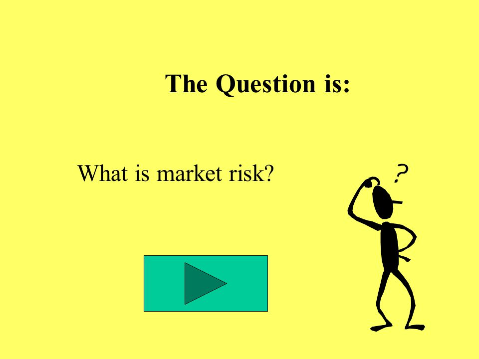 The Question is: What is market risk