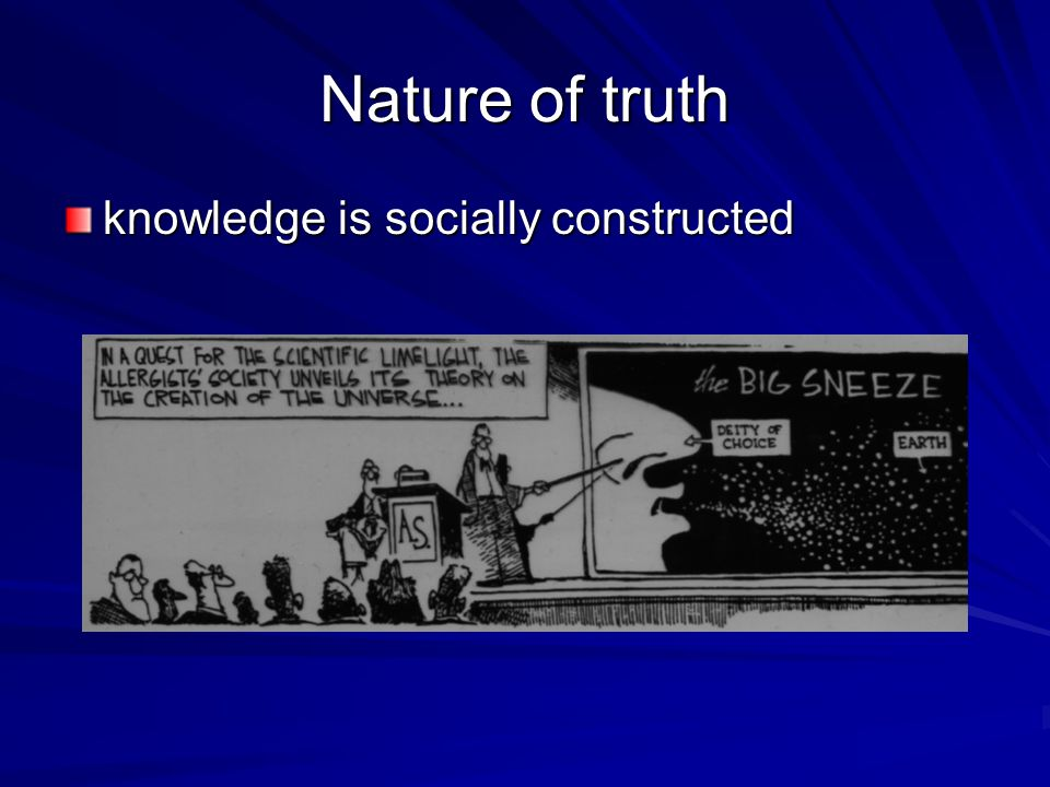Nature of truth knowledge is socially constructed