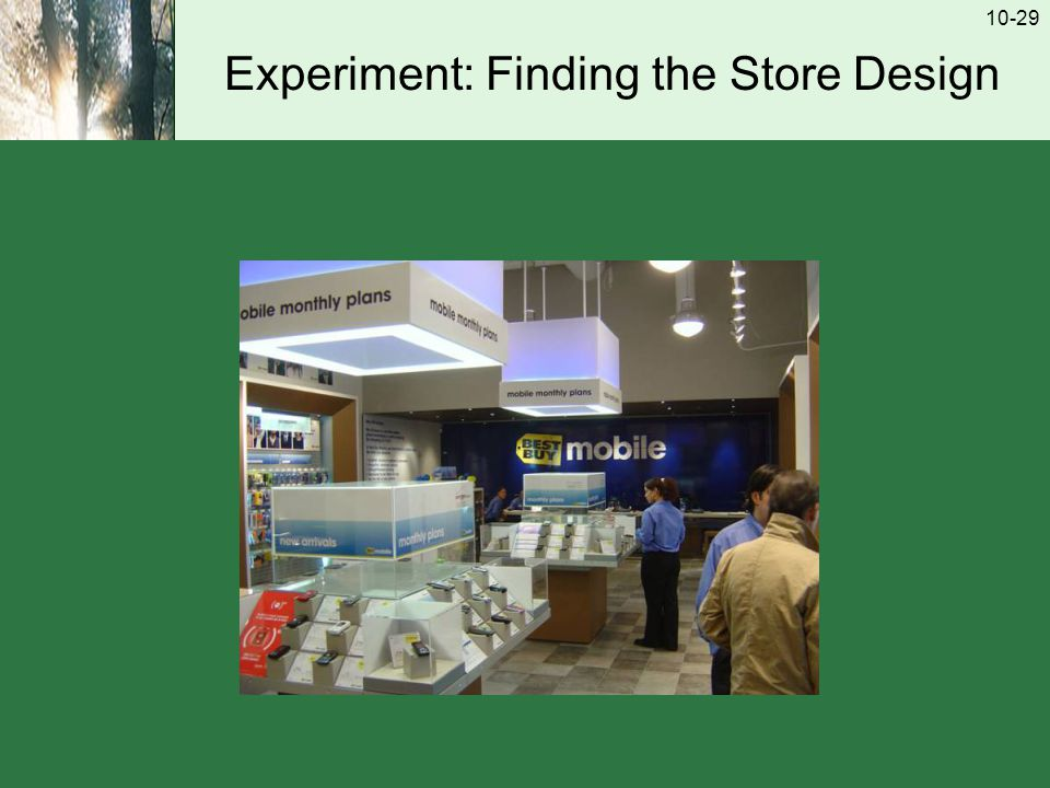 10-29 Experiment: Finding the Store Design
