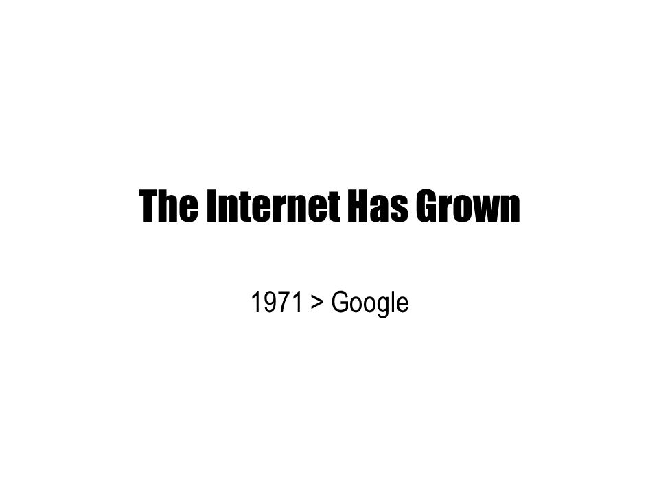 the internet has grown 1971 google ppt download