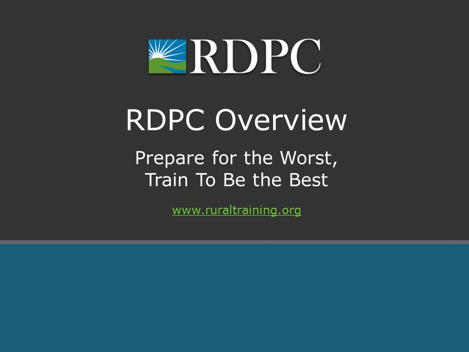 Prepare for the Worst, Train To Be the Best RDPC Overview
