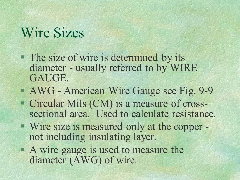 Eet electronics survey chapter 9 circuit conductors wire sizes 5 wire keyboard keysfo Images