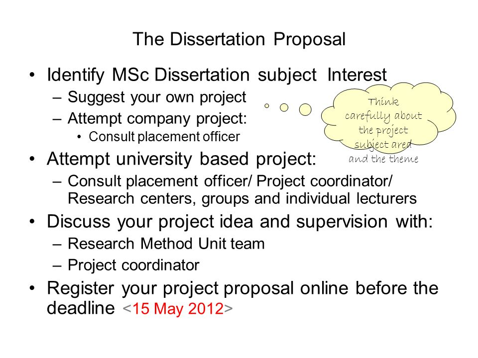masters dissertation proposal example