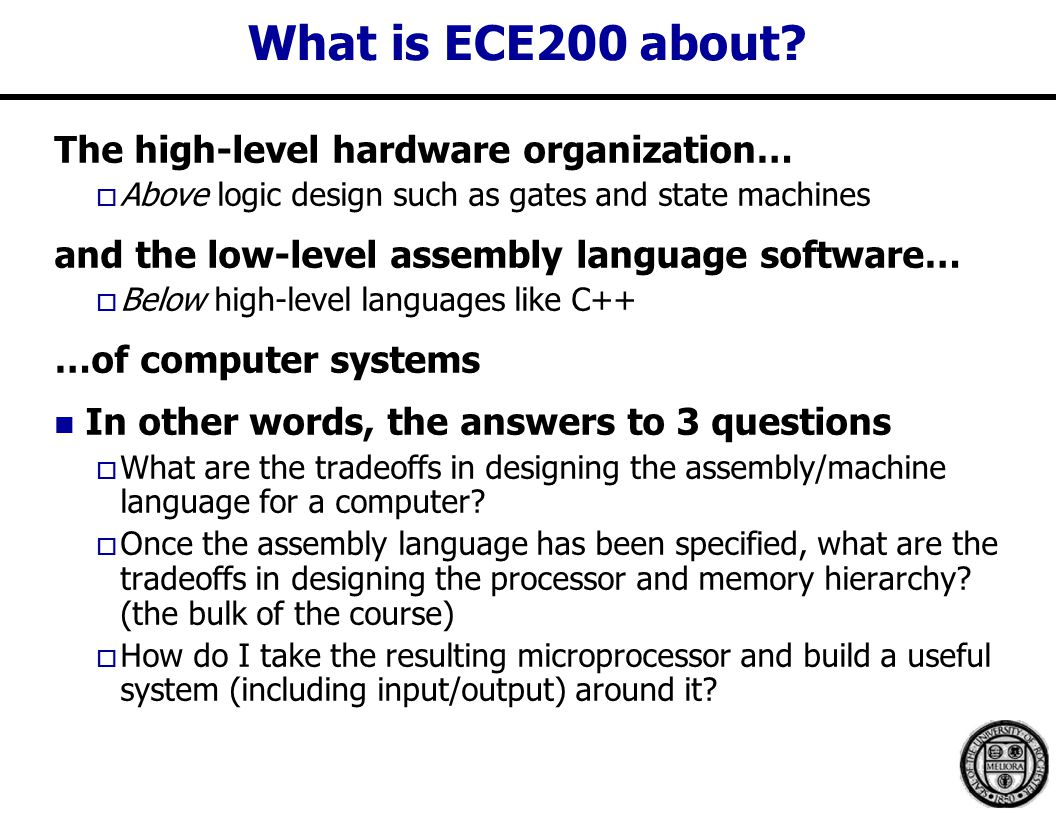 What is ECE200 about.