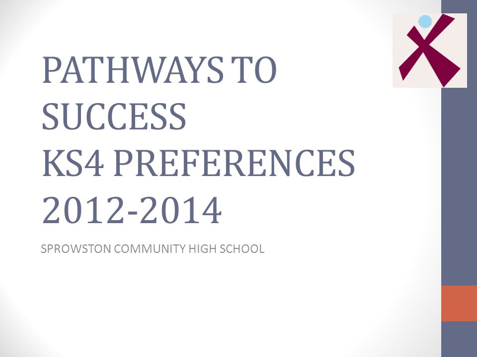 PATHWAYS TO SUCCESS KS4 PREFERENCES SPROWSTON COMMUNITY HIGH SCHOOL