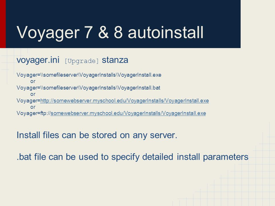 Automating Voyager Client Upgrades with Voyager AutoUpdate  - ppt