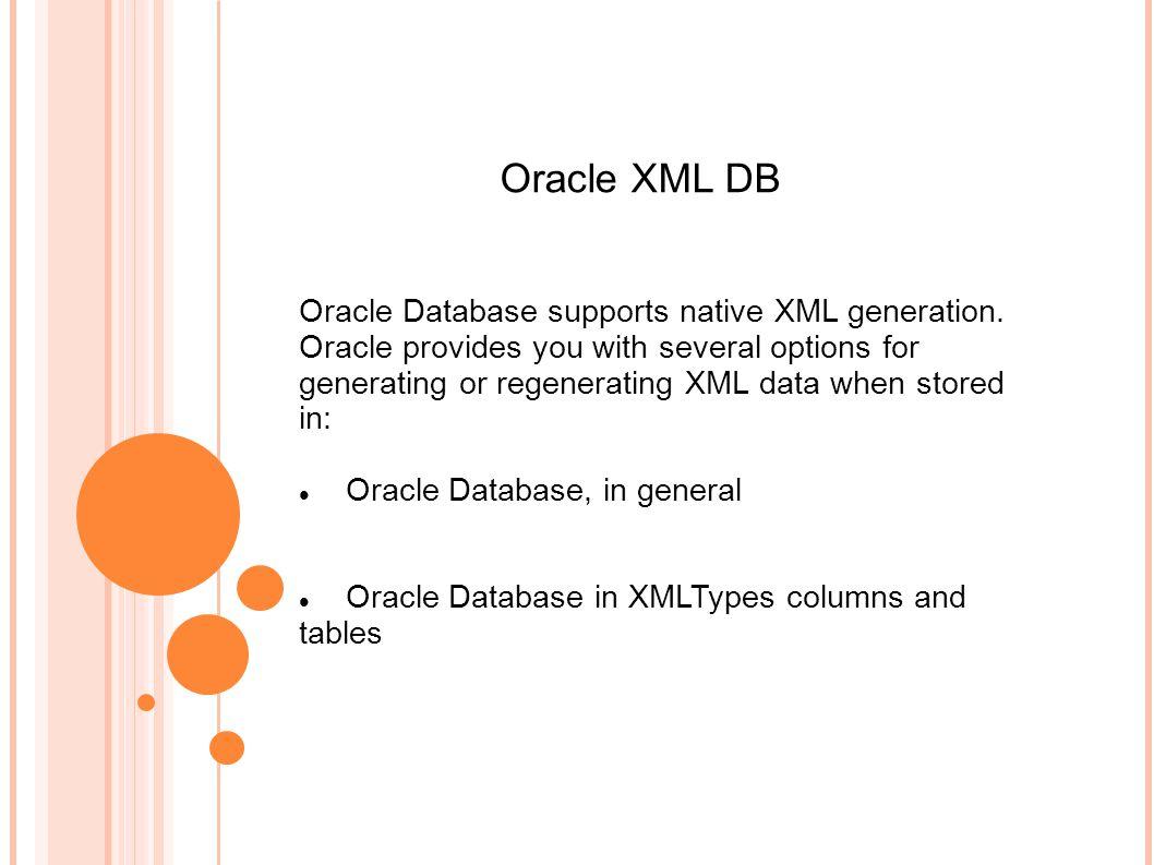 Xml Extract Oracle 11g