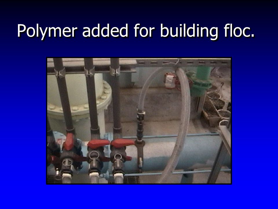 Polymer added for building floc.