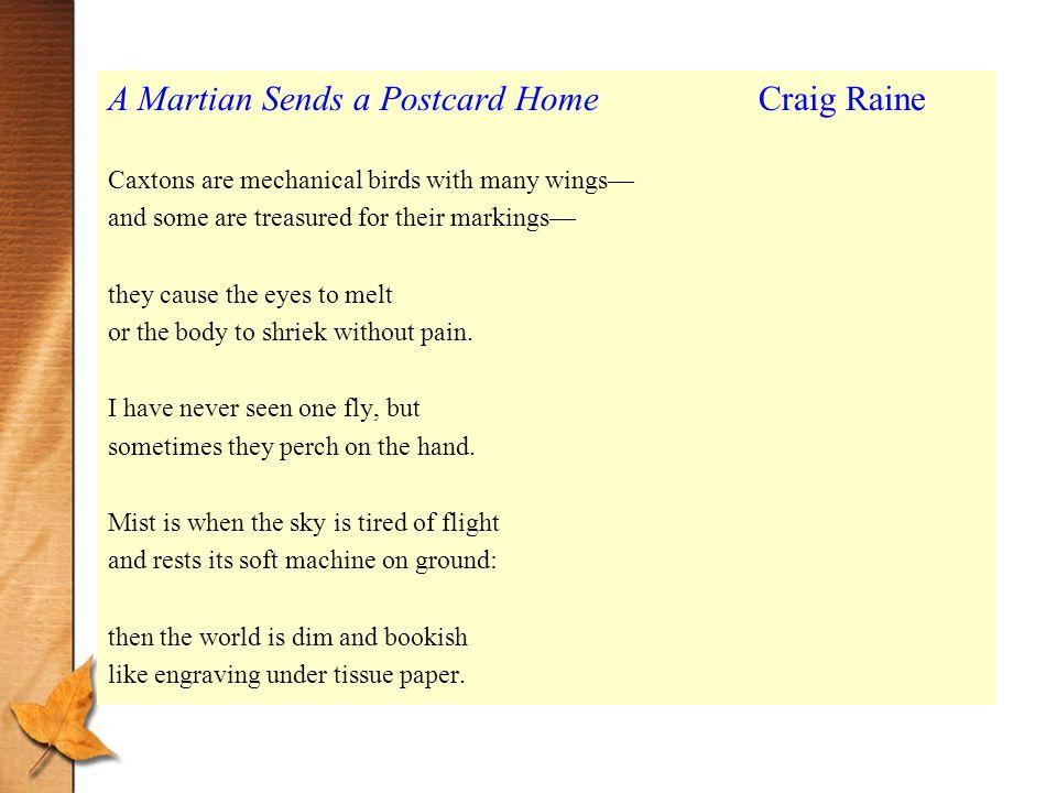 a martian sends a postcard home