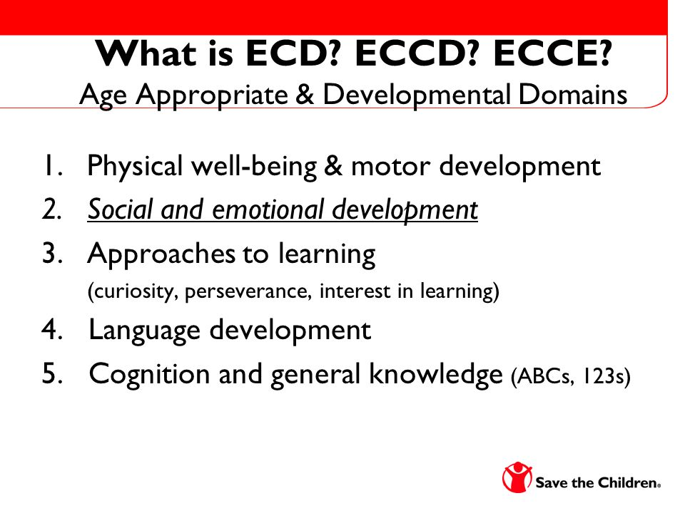 What is ECD. ECCD. ECCE.