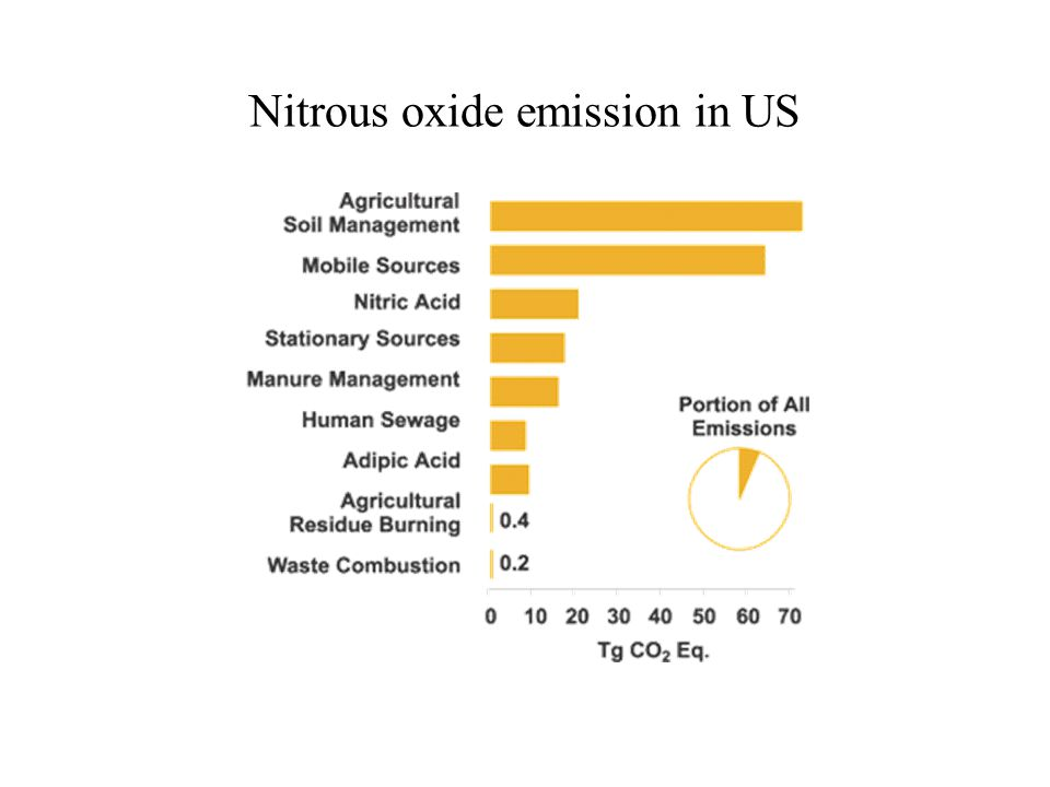 Nitrous oxide emission in US
