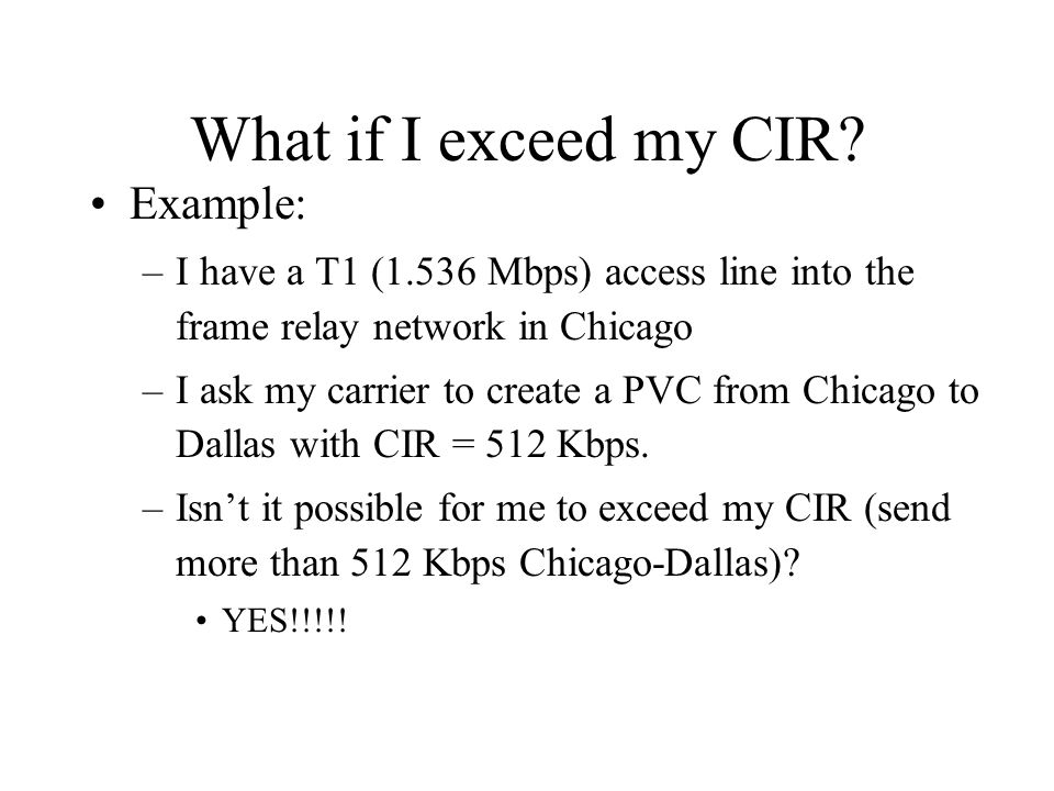 What if I exceed my CIR.