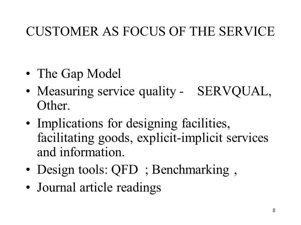 gap model of service quality with examples