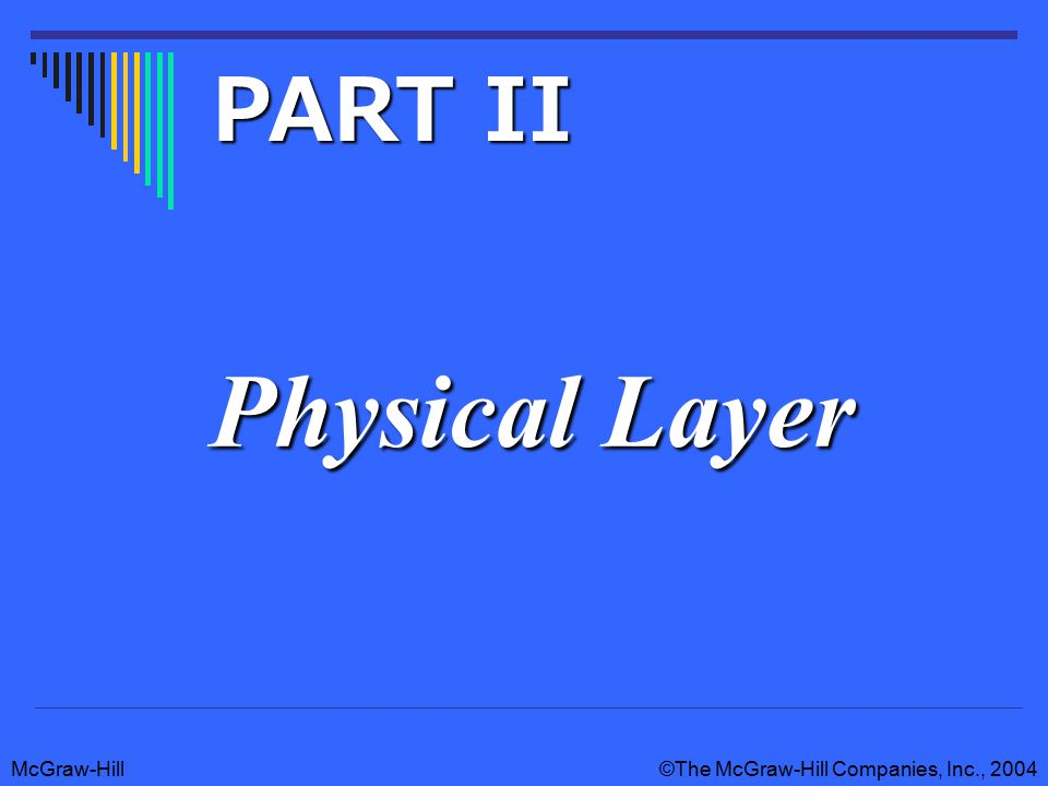 McGraw-Hill©The McGraw-Hill Companies, Inc., 2004 Physical Layer PART II