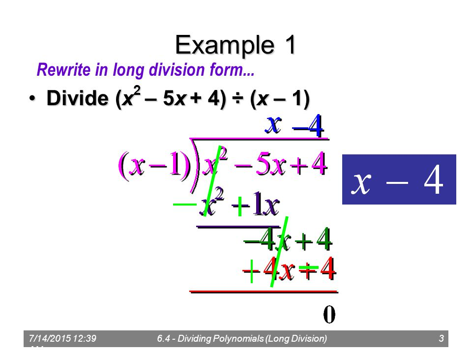 714 41 Am64 Dividing Polynomials Long Division1 Polynomial. Am 64 Dividing Polynomials Long Division3 Exle 1 Divide X 2 5x 4 1divide Rewrite In Division Form. Worksheet. Polynomial Long Ision Worksheet At Clickcart.co