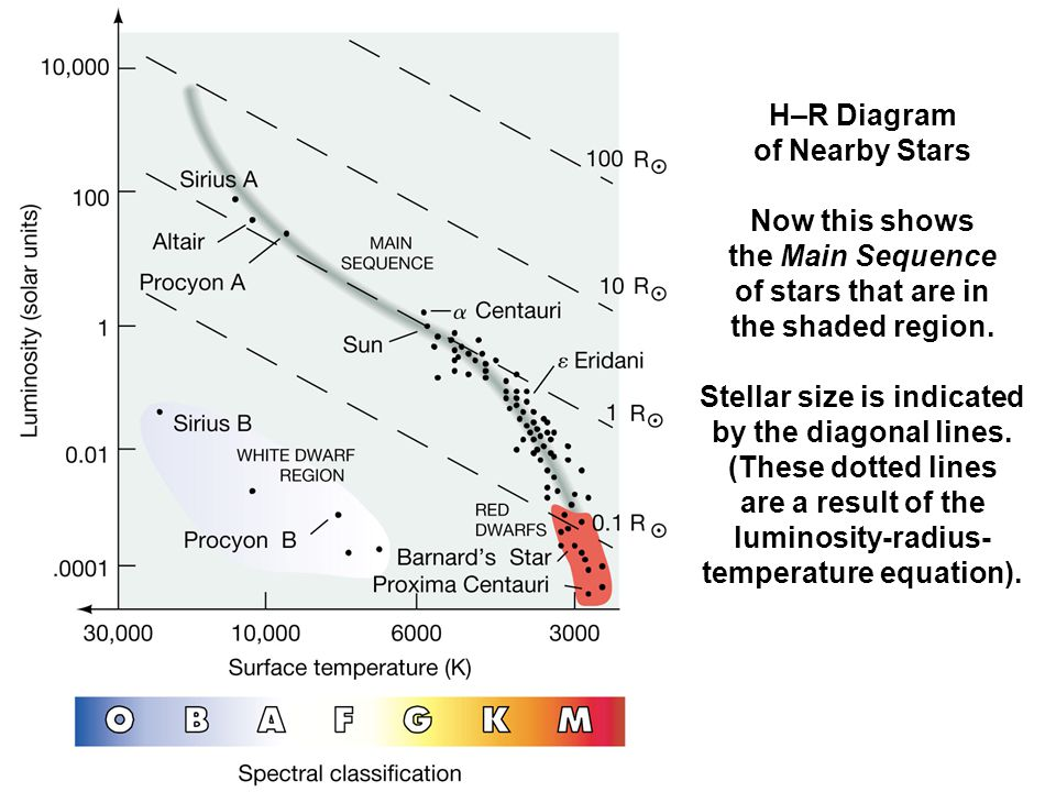 Ch 8 characterizing stars part 3 the hertzsprung russell diagram hr diagram of nearby stars now this shows the main sequence of stars that ccuart