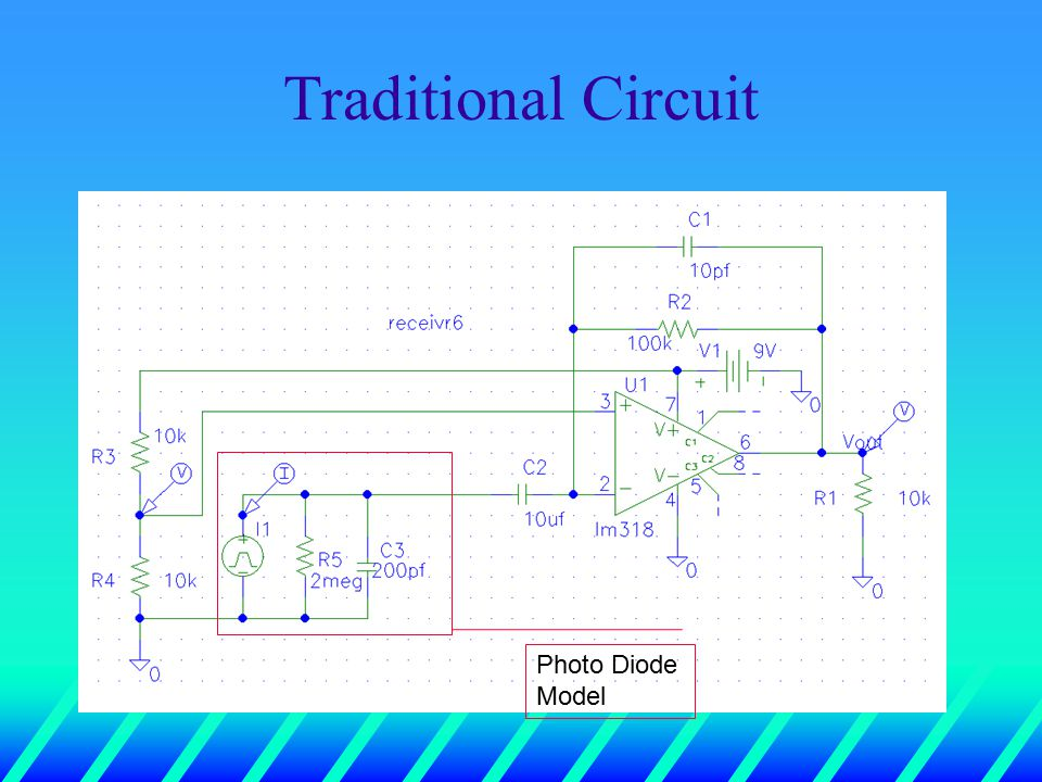 Traditional Circuit Photo Diode Model
