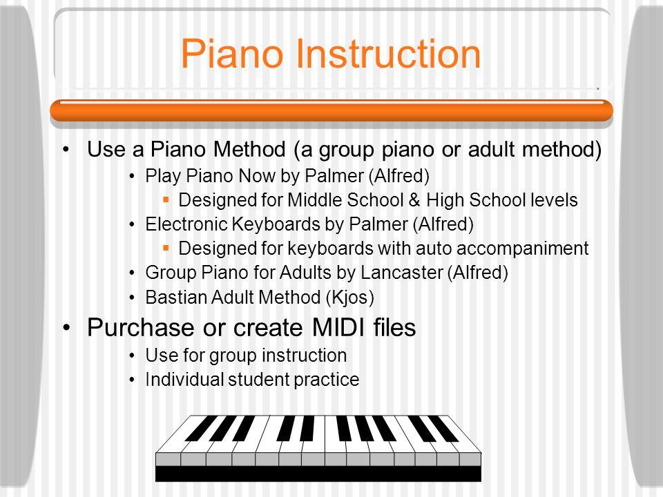 Teaching Basic Piano Skills in the MIDI Lab Thomas Rudolph, Ed  D