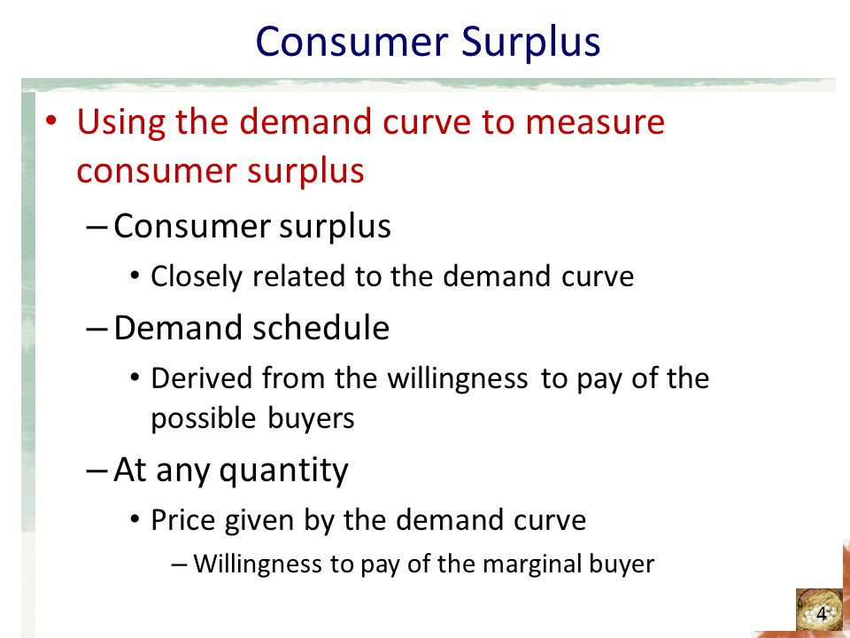 a measure of consumer surplus in any market is