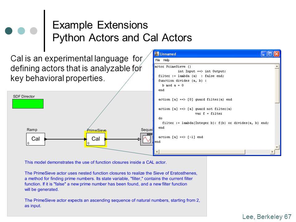 Concurrent Models of Computation Edward A  Lee Professor, UC