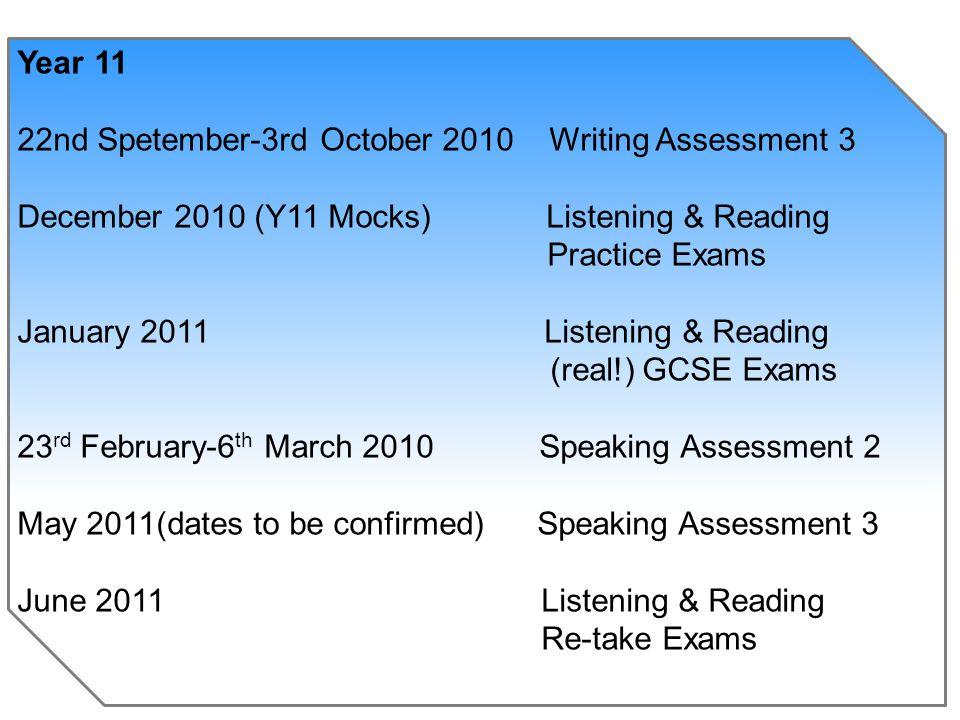 AQA GCSE FRENCH / GERMAN Full Course September 2009 – June