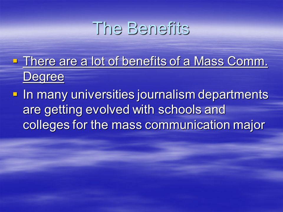 benefits of mass communication