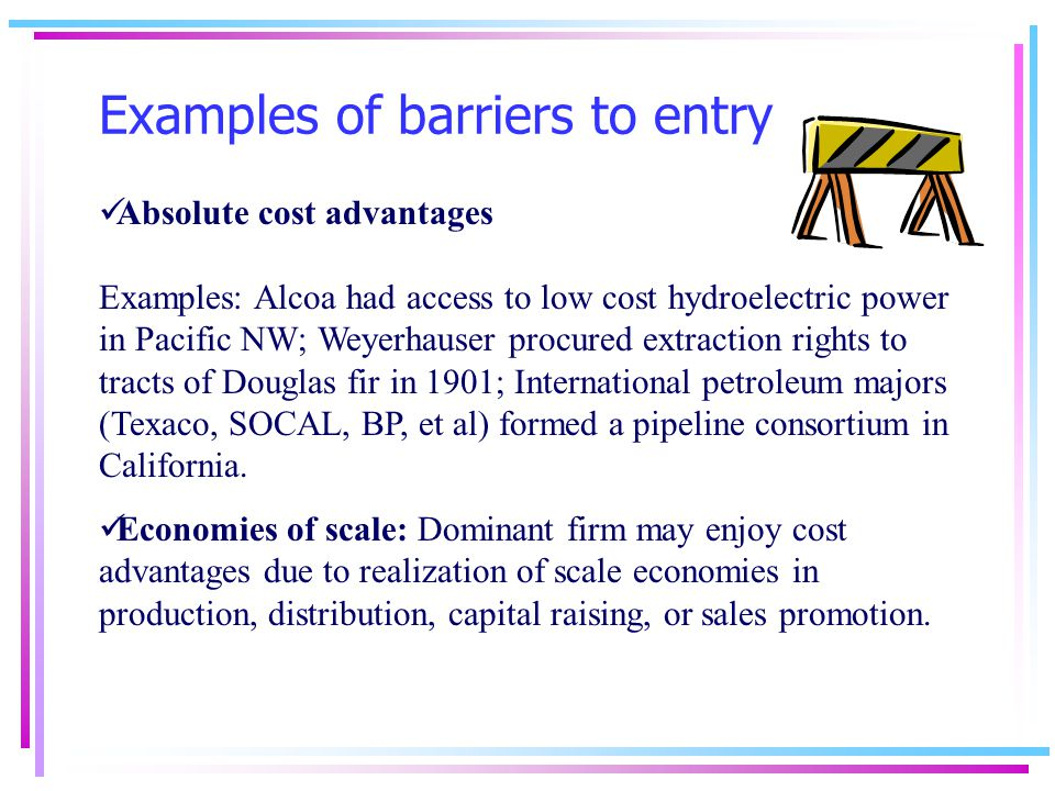 barriers to entry and how they Abstract the passion with which both proponents and opponents of the us-mexico border wall cling to their views is surprising given how little we actually know about when such walls are effective and what drives states to build them.