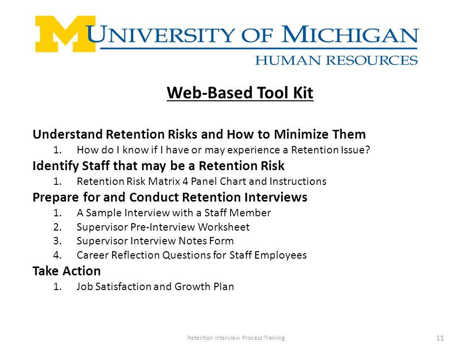 retention interview process training july 2008 retention interview