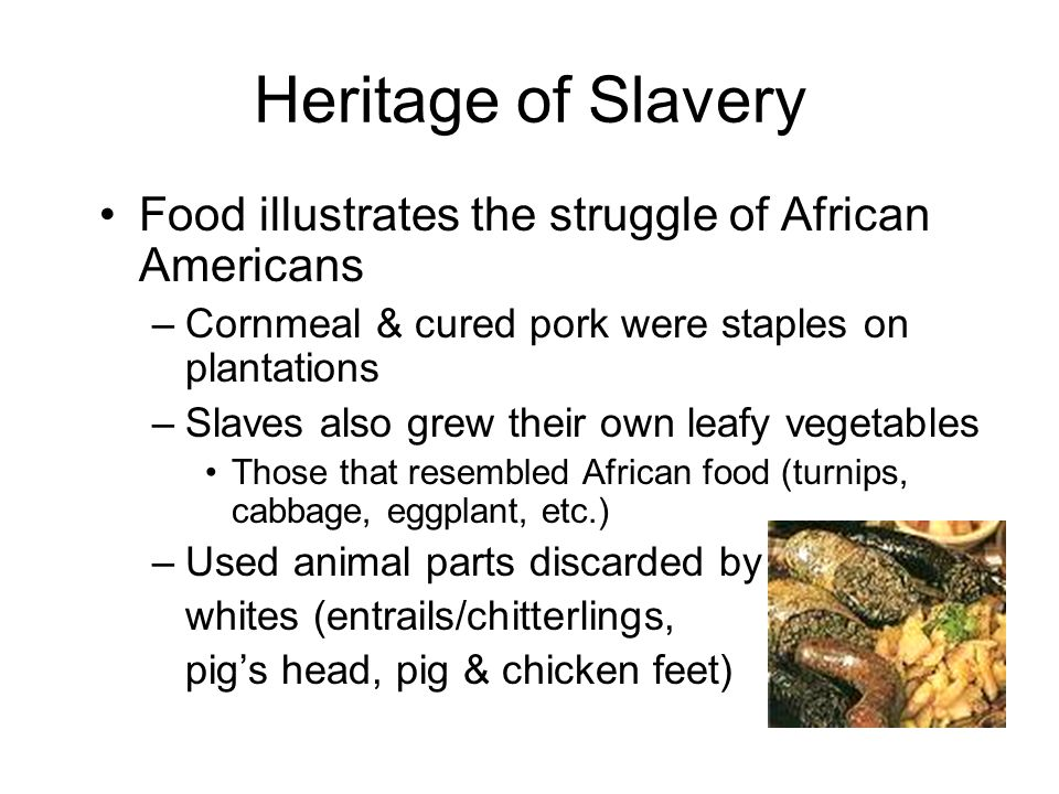 The Origins Of Soul Food In Black Urban Identity Ppt Download