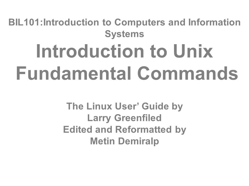 bil101 introduction to computers and information systems rh slideplayer com linux user's guide the linux user's guide pdf