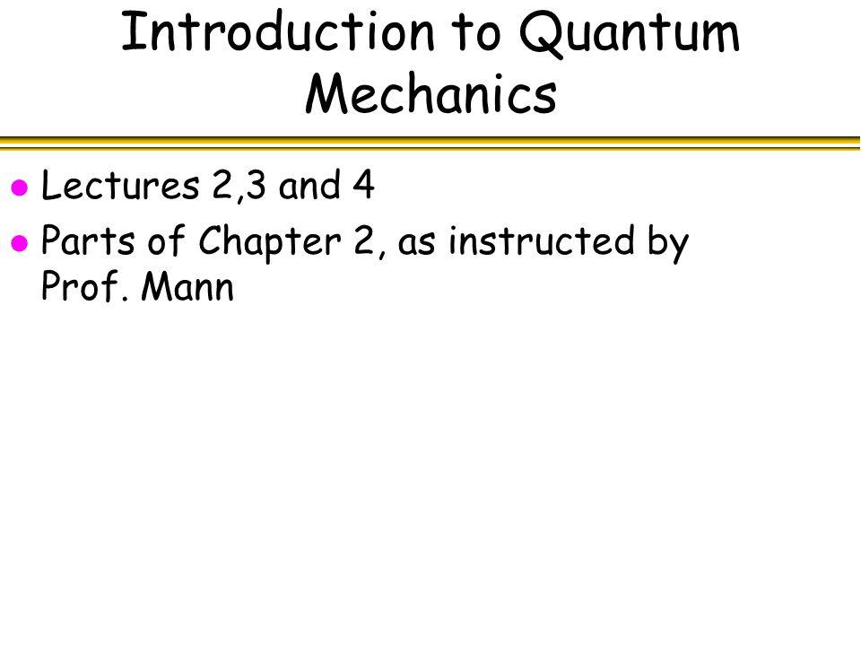 Quantum Computing Lecture 1 Michele Mosca  l Course Outline