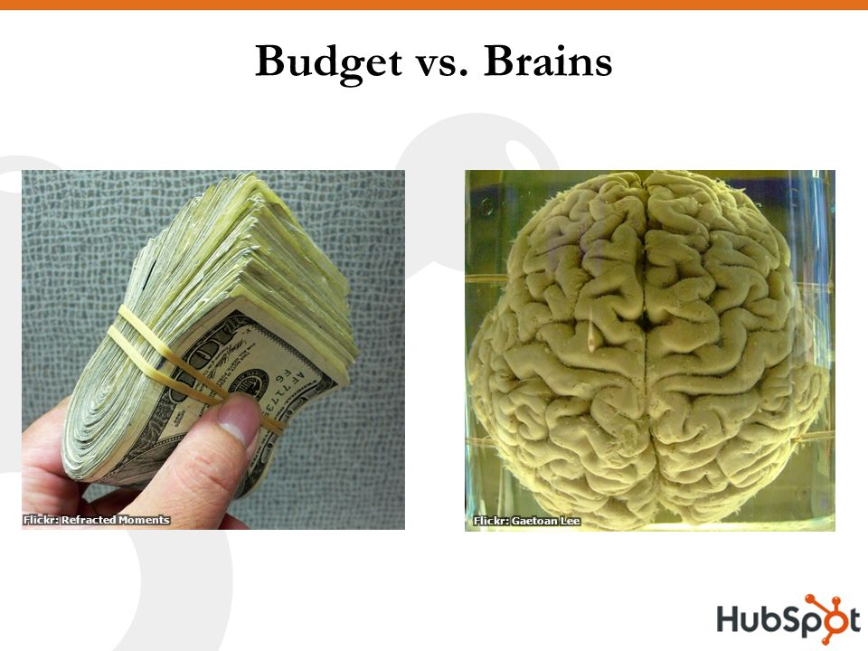 Budget vs. Brains