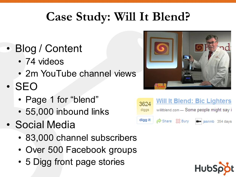 Case Study: Will It Blend.