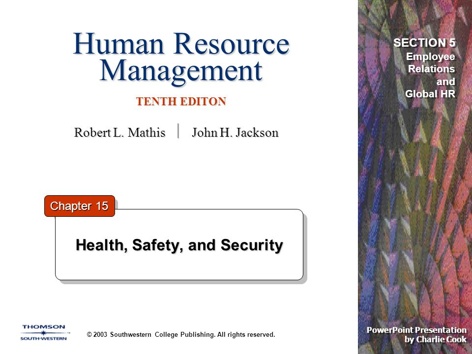 Human Resource Management TENTH EDITON © 2003 Southwestern College Publishing.