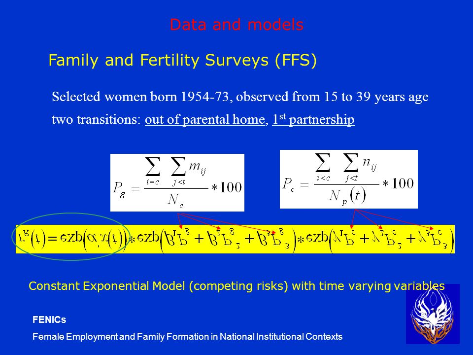 FENICs Female Employment and Family Formation in National