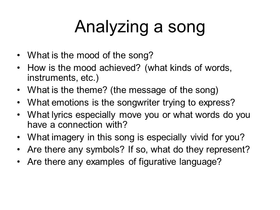 Lyric lyrics to a song : Analyzing songs for poetic value Lyric poetry consists of a poem ...