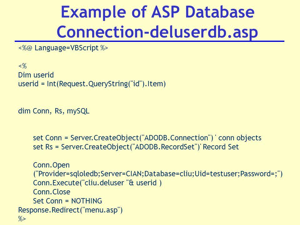 DT221 3 Internet Application Development Active Server Pages