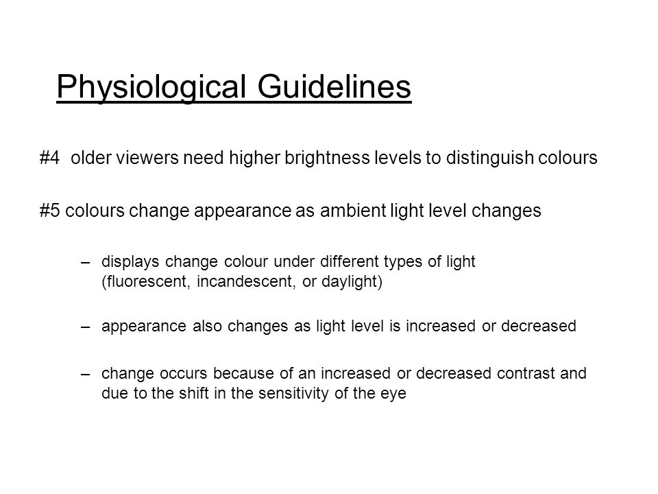 16 Physiological Guidelines
