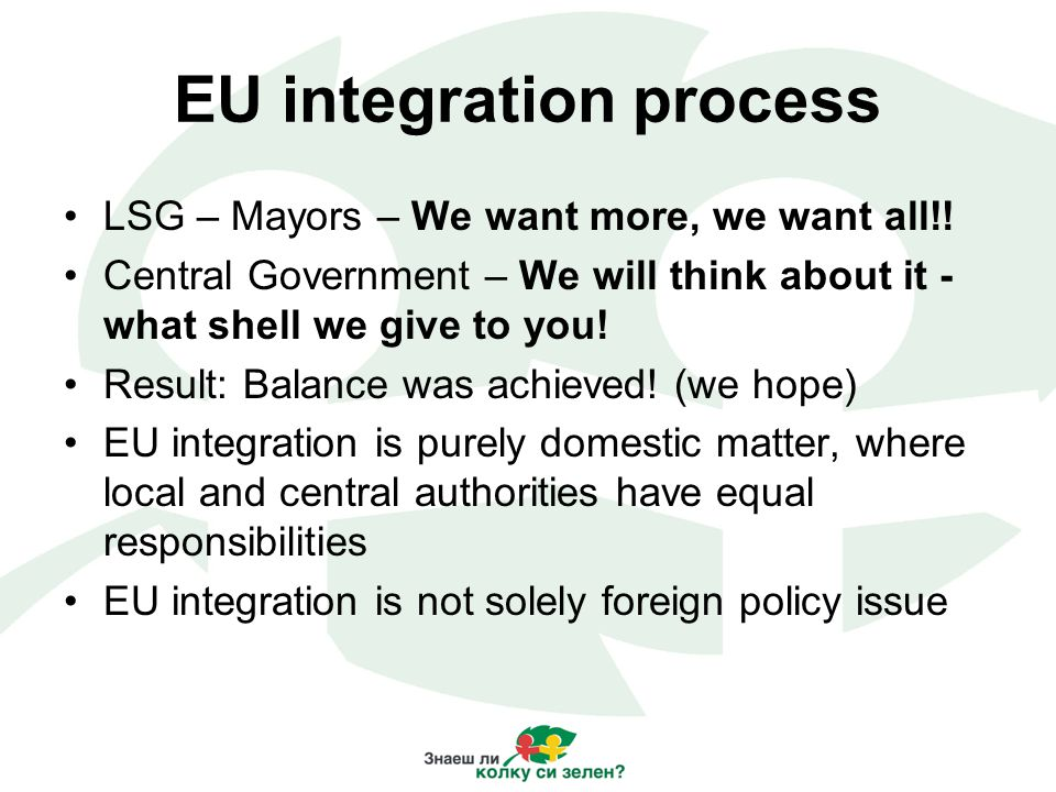 EU integration process LSG – Mayors – We want more, we want all!.