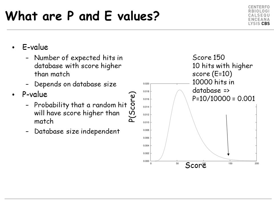 What are P and E values.