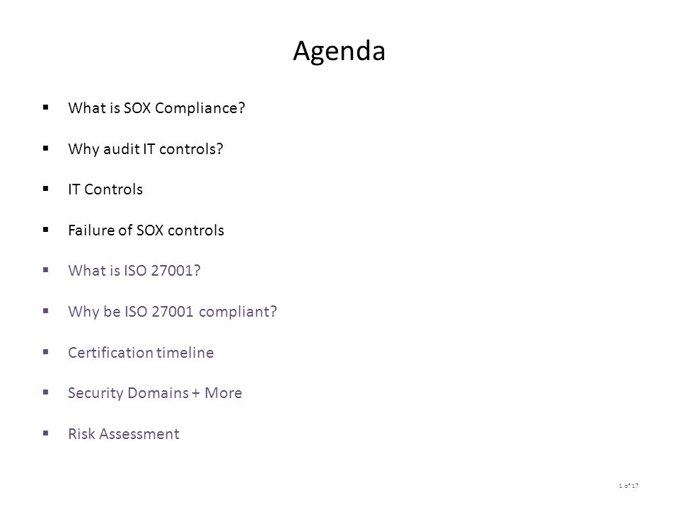Sox Iso Protect Your Data And Be Ready To Be Audited Ppt Download