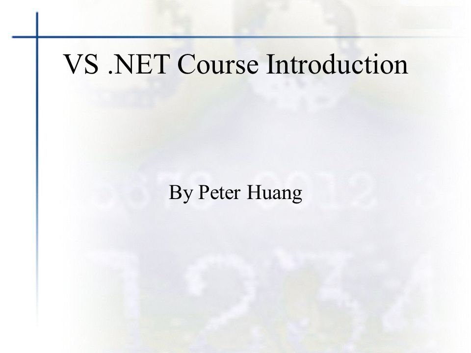 Vs Course Introduction By Peter Huang About Me Peter Huang