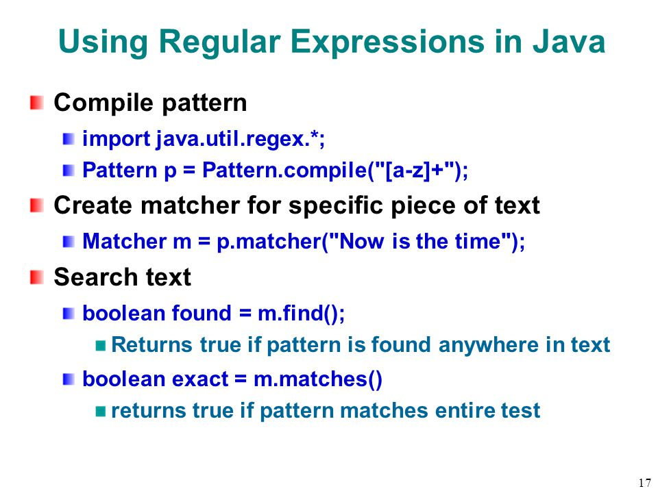 60 Overview Regular Expressions Notation Patterns Java Support Ppt Awesome Java Pattern Compile