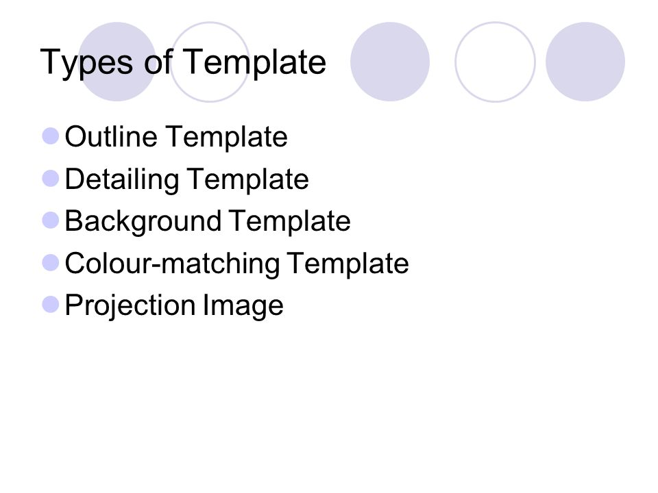 template for an outline