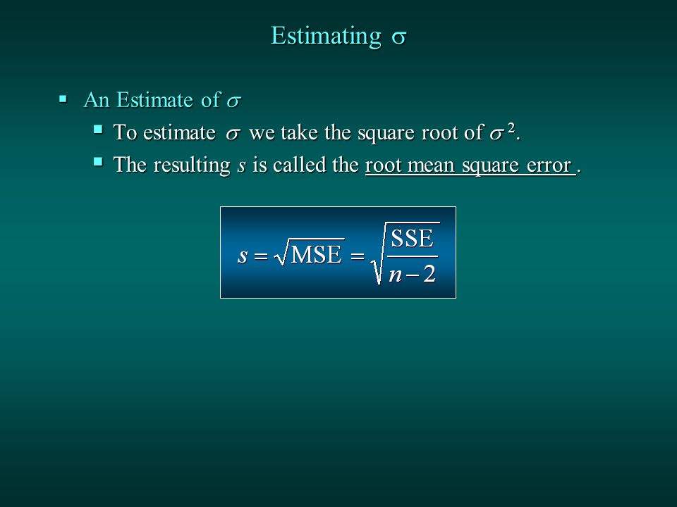 Estimating   An Estimate of   To estimate  we take the square root of  2.