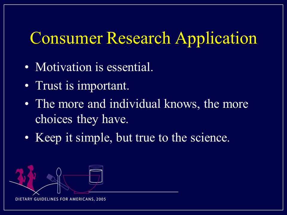 Consumer Research Application Motivation is essential.