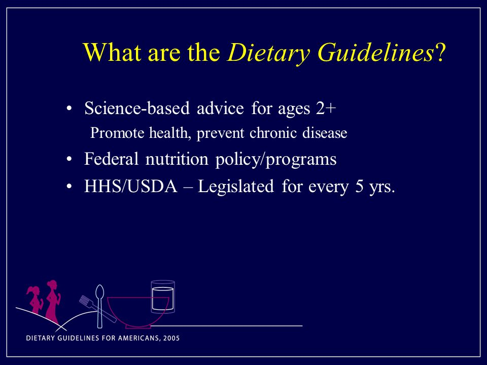 What are the Dietary Guidelines.