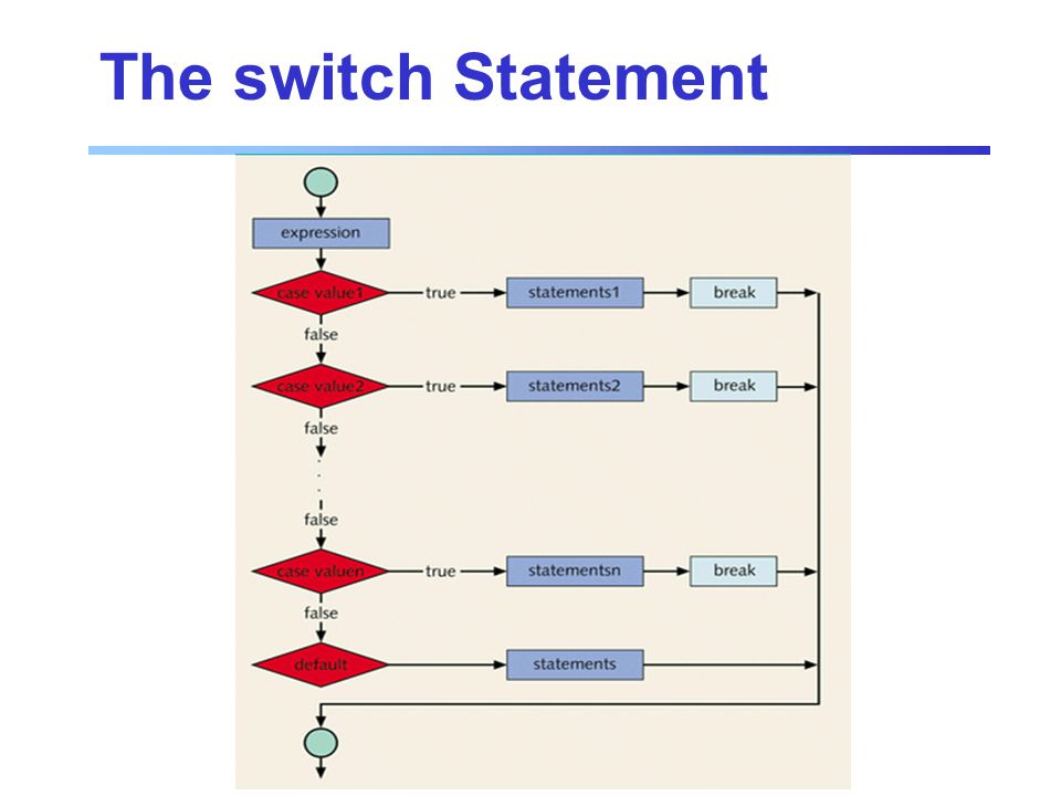 The switch Statement